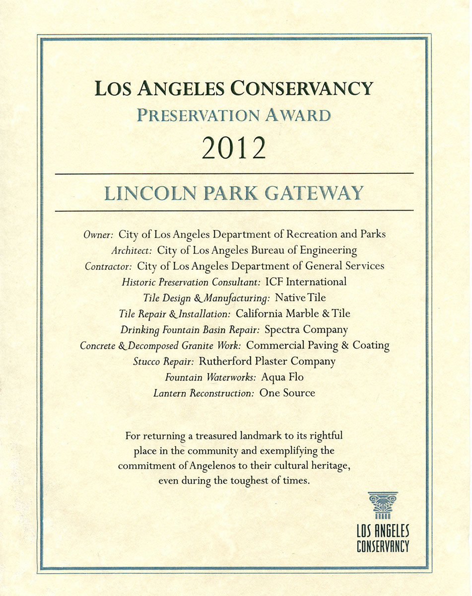 Native-Tile-LA-Conservancy-Preservation-Award-2012